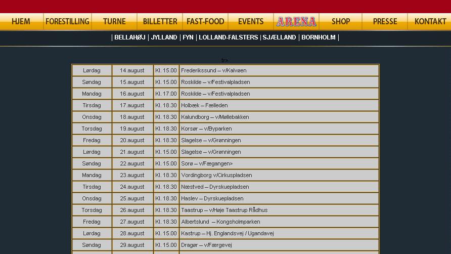 Cirkus Arena til Sorø