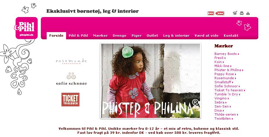 Pihl & Pihl flytter butikken online