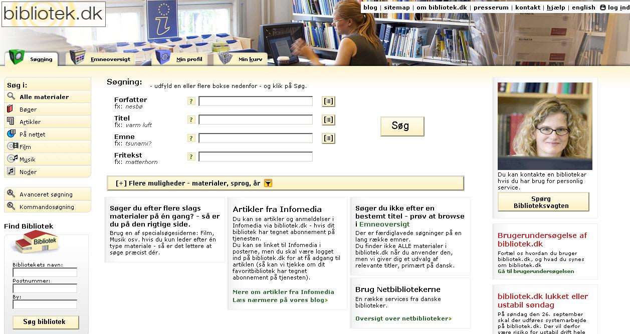 Hvordan bruger man Bibliotek.dk?