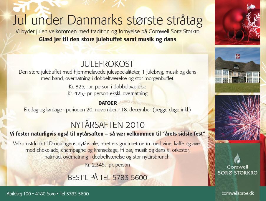 Jul under Danmarks største stråtag