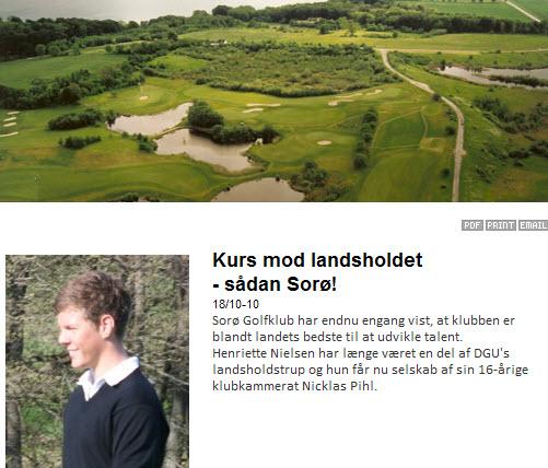 Endnu en landsholdsspiller i Sorø Golfklub