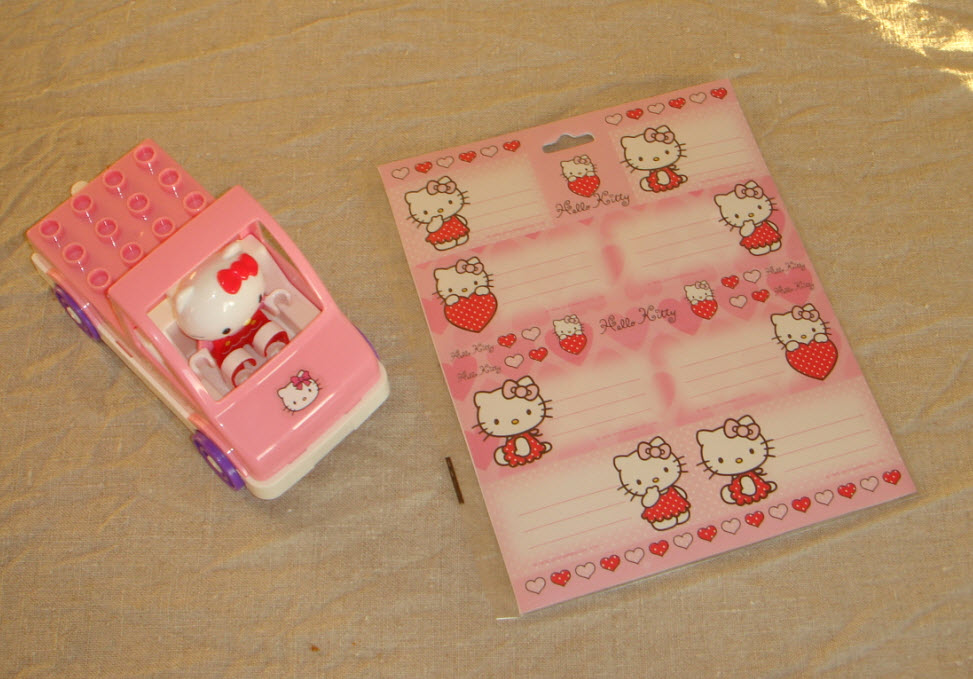 Bogetiketter med Hello Kitty