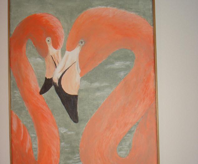 Flotte flamengoer fra udstilling på Sorø Rådhus