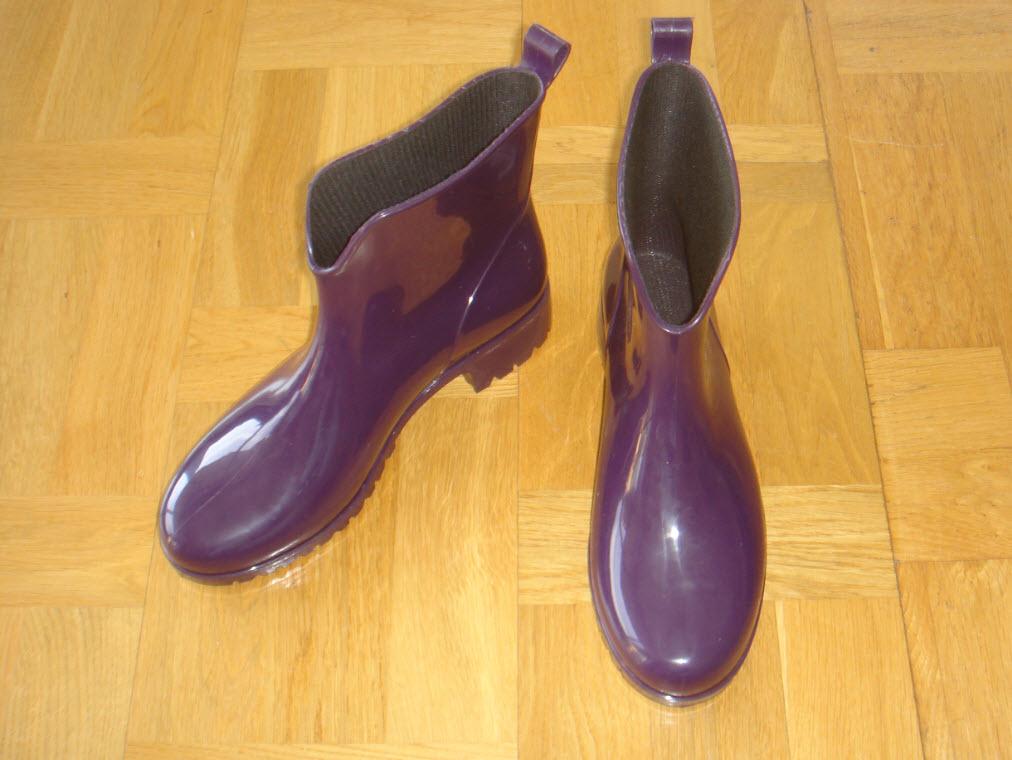 Lilla gummistøvler