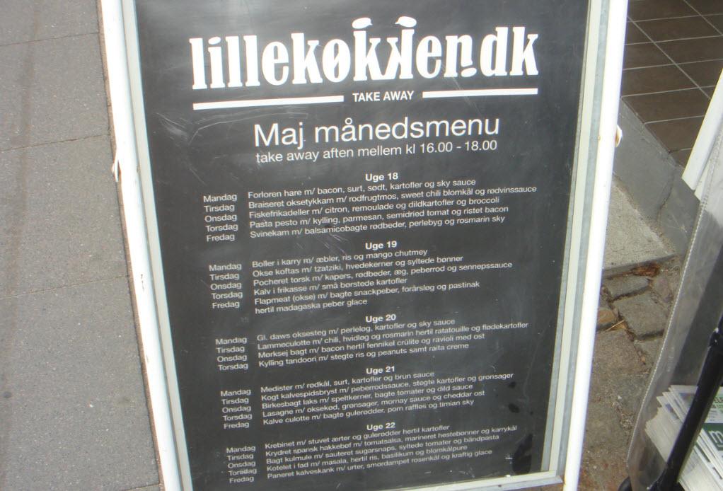 Lille Køkkens menu i maj