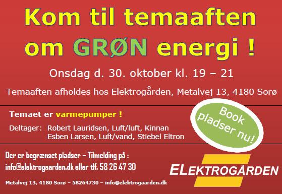 Temaaften om grøn energi