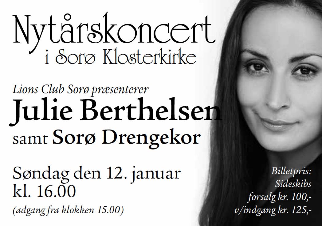 Julie Berthelsen synger