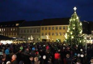 Juletræet tændes i Sorø