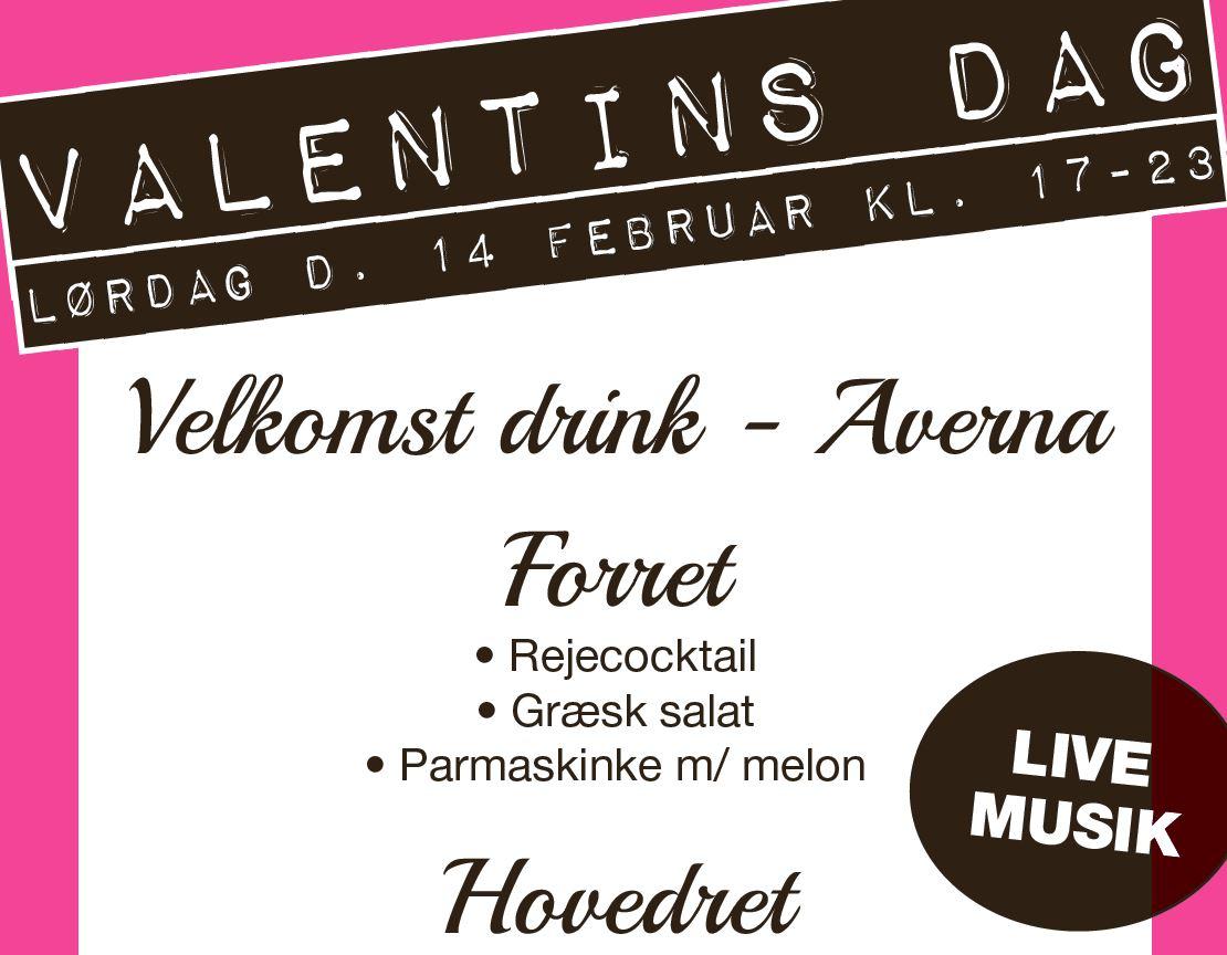 Valentins menu