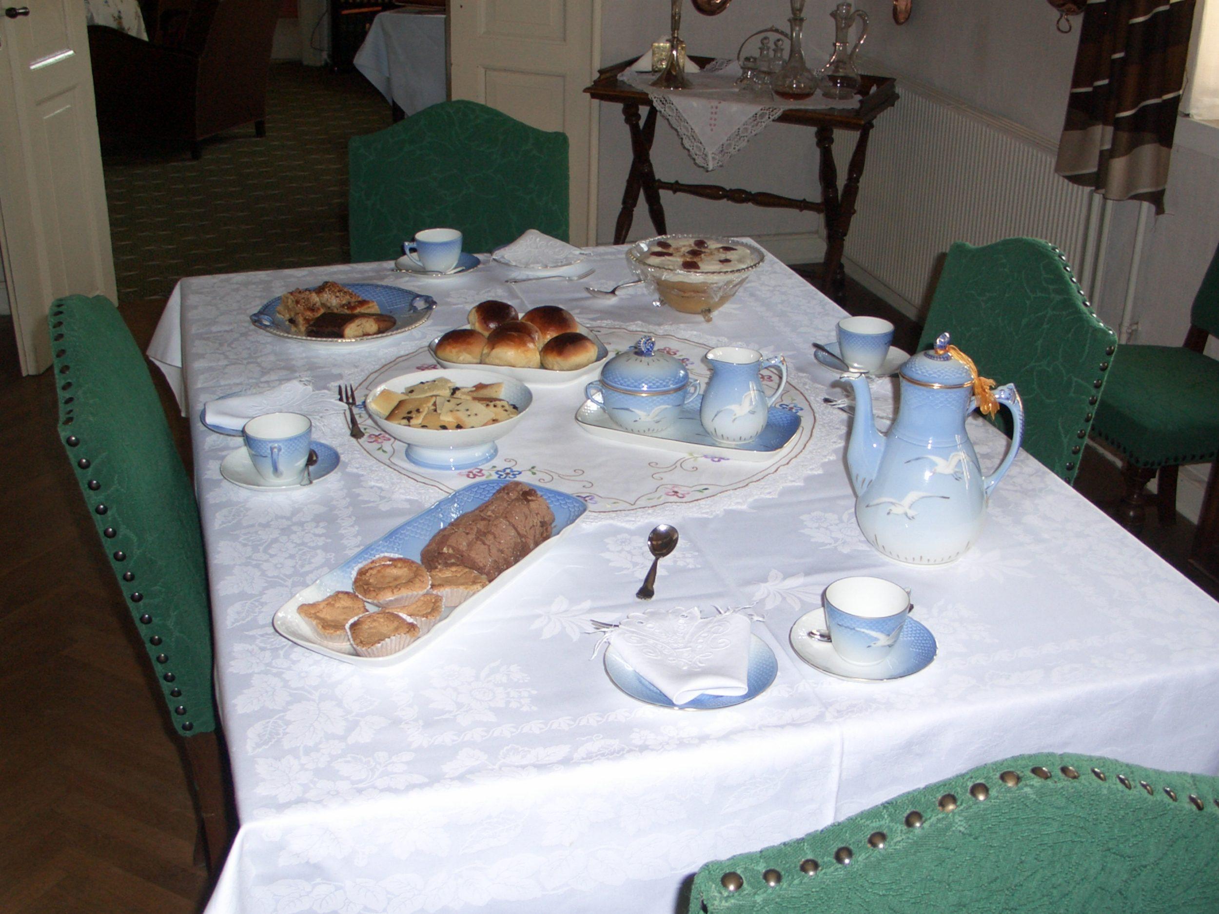 Lones kaffebord på Kongsgaarden