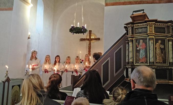 Lucia i Fjenneslev Kirke