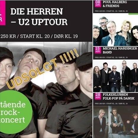 Fire koncerter