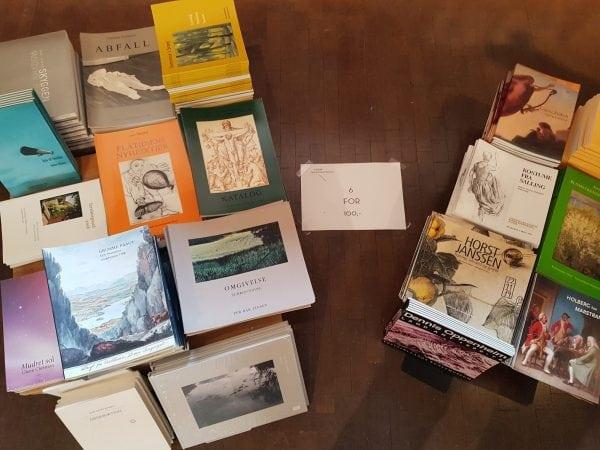 Udsalg på kunstbøger