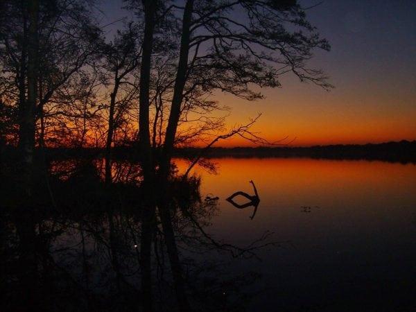 Smuk aften og morgen ved Tuel Sø