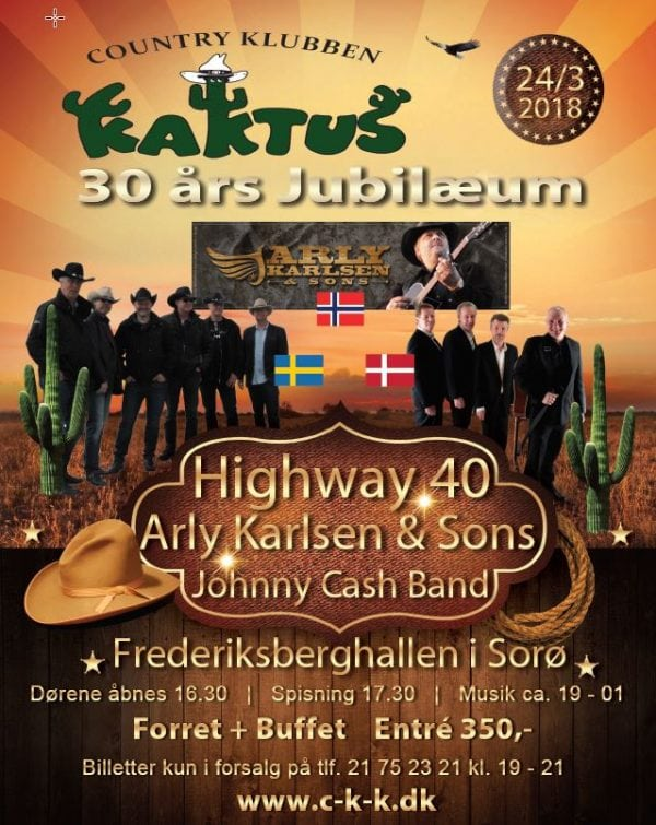 30 års jubilæum i Country Klubben Kaktus