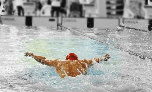 Succesfuld svømmer