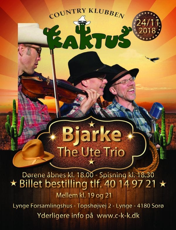 Bjarke med The Ute trio