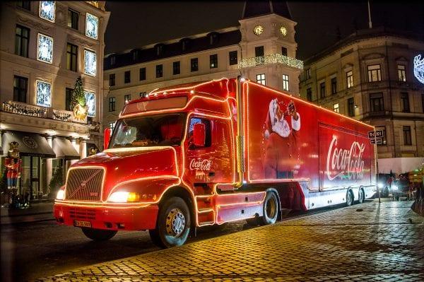 Coca-Cola julelastbilen besøger Sorø