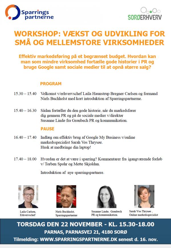 Workshop: Vækst og udvikling for små og mellemstore virksomheder