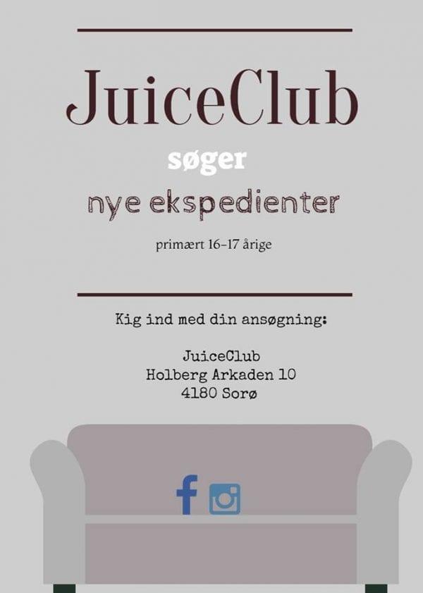 JuiceClub søger nye under ekspedienter under 18