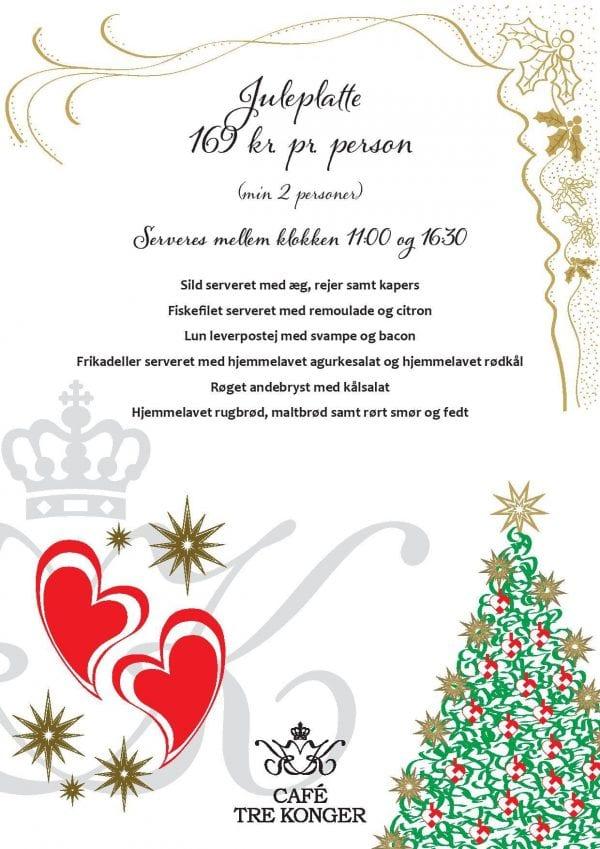 Juleplatte på Café Tre Konger