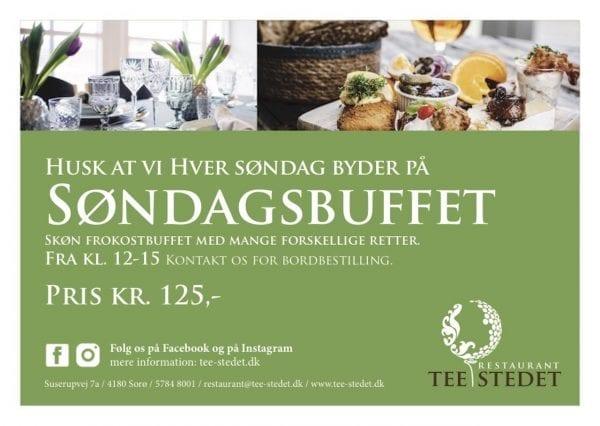 Prøv Tee-Stedets søndagsbuffet