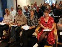 Foreningen LAG Midt-Nordvestsjælland oplever stærkt stigende interesse. Her er et billede fra et meget velbesøgt informationsmøde tilbage i maj måned. Foto: LAG