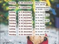 Julens åbningstider