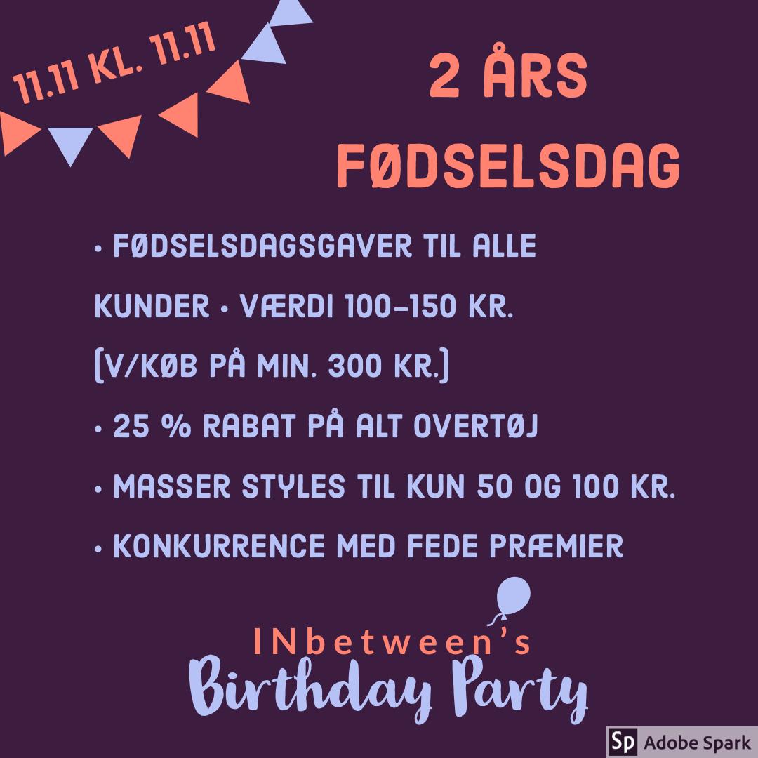 INbetween 2.0 holder fødselsdagsfest