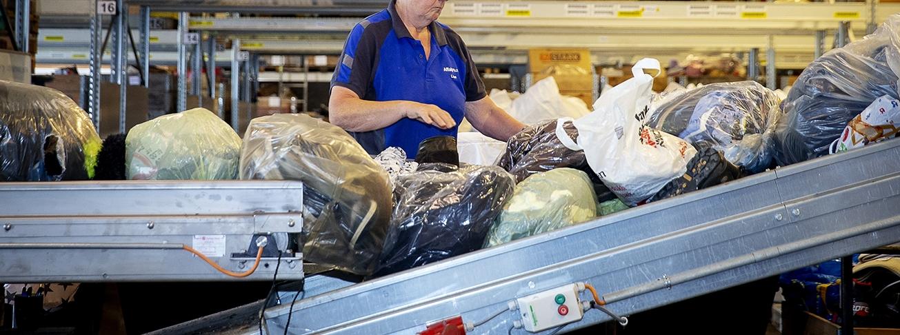 AffaldPlus indsamler tekstiler